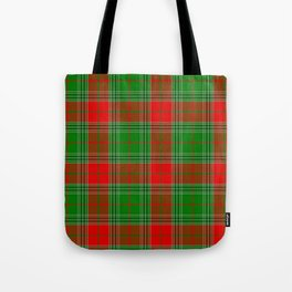 Red and Green Plaid, Tartan, Red and Green Checked Tote Bag
