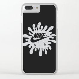 White Cement Clear iPhone Case