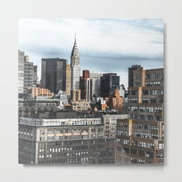 chrysler building on nyc Metal Print