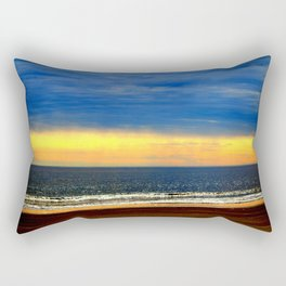 Beach Sunset Glow Rectangular Pillow