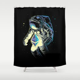 Space Ethereum Shower Curtain