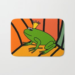 Frog Prince waiting in the Pumpkin Patch for Halloween Bath Mat
