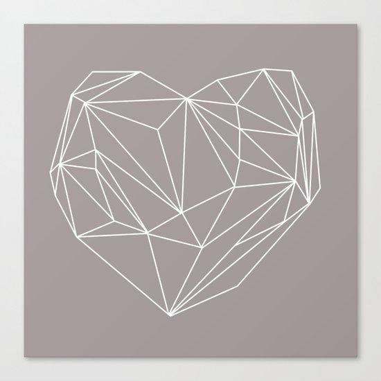 Heart Graphic Canvas Print