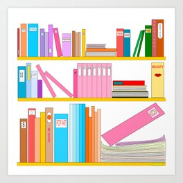 Favorite books Art Print