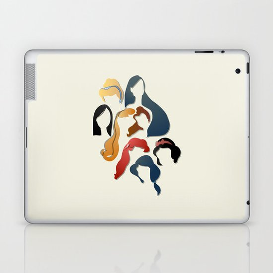 Royal Hair Laptop & iPad Skin