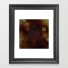 Bokeh Triangle Framed Art Print