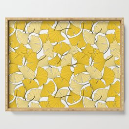 ginkgo leaves (yellow) Serving Tray