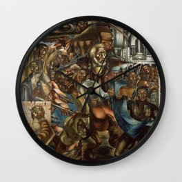 The Contribution of the African American to Democracy in America, 1943 - Charles Wilbert White Wall Clock