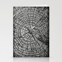 tree rings Stationery Cards featuring Tree Rings by Tanya Harrison Photography