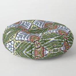 Royal Poinciana Fronds Diamond OP Pattern Floor Pillow
