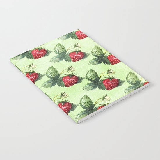 Strawberry Pattern- Strawberries fruits Notebook