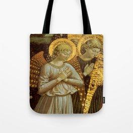 1459 Benozzo Gozoli - Angels (detail) Tote Bag