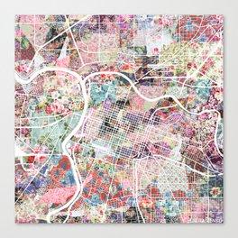Sacramento map Canvas Print