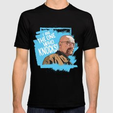 The One Who Knocks MEDIUM Black Mens Fitted Tee