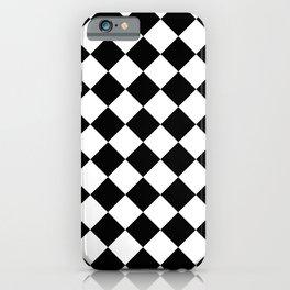 Rhombus (Black & White Pattern) iPhone Case