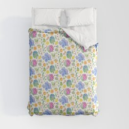 Winter Harvest Pattern White Comforters