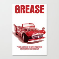 Grease Movie Poster Canvas Print