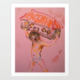 Worthless Refuse (Boy and house) Art Print
