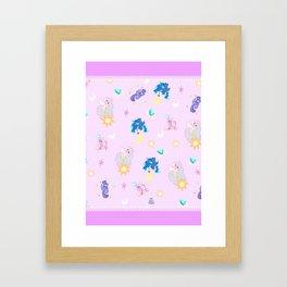 Pony Princess Print Framed Art Print
