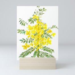 yellow scramble egg tree flower Mini Art Print