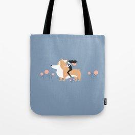 corgi ride Tote Bag