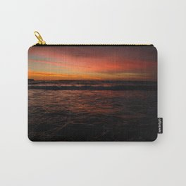 Red Seascape Carry-All Pouch