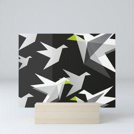 Black and White Paper Cranes Mini Art Print
