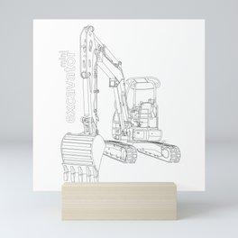 Mini Excavator Mini Art Print