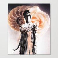 fibonacci Canvas Prints featuring Fibonacci by Joellart