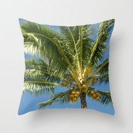 Hawaiian Coconut Palm Tree Throw Pillow