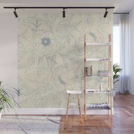 Graphic peonies Wall Mural
