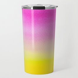 Abstract painting in modern fresh colors Travel Mug
