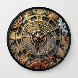 Steampunk Clock - Glass Art Wall Clock