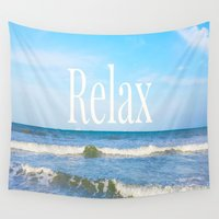 relax Wall Tapestries featuring Relax by JuniqueStudio