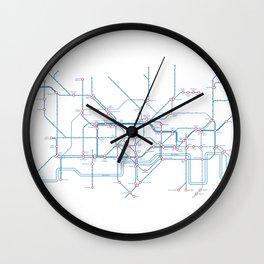 London – metro and transport map Wall Clock