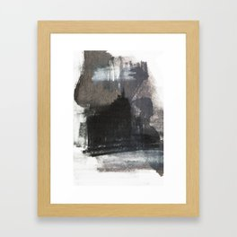 Abstract Texture, Black White & Grey Texture 1 Framed Art Print