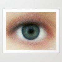 Eye of humanity Art Print