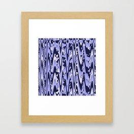 Abstract Iceberg Pattern Framed Art Print