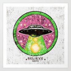 UFO SERPO Art Print