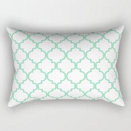 Moroccan Trellis (Mint & White Pattern) Rectangular Pillow