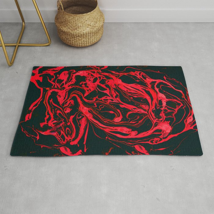 Original Marble Texture - Black Fire Rug