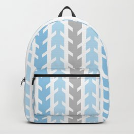 Blue Gray Chevron Arrow Backpack