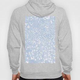 Chic pastel blue white elegant glitter pattern Hoody