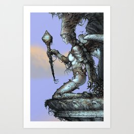 Queen of wands Art Print