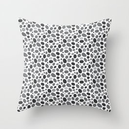 A Pebble Path Pattern Throw Pillow