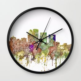 Louisville, Kentucky Skyline - Faded Glory Wall Clock