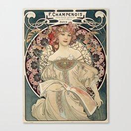 Alphonse Mucha - F. Champenois Imprimeur-Editeur, 1898 Canvas Print