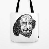 shakespeare Tote Bags featuring William Shakespeare by Feld Sprucetree