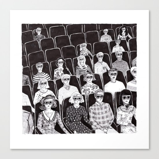The movies Canvas Print