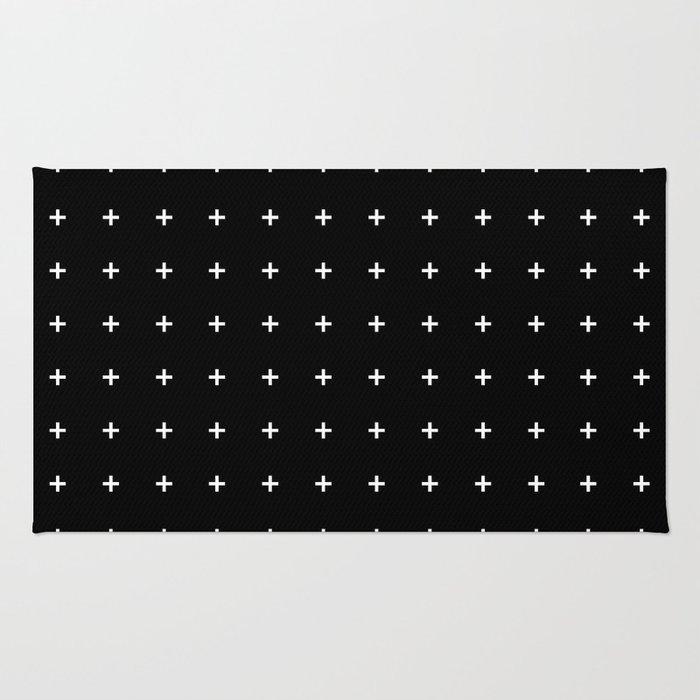 White Plus on Black /// www.pencilmeinstationery.com Rug